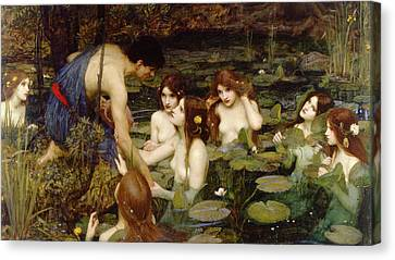 Hylas And The Nymphs Canvas Print