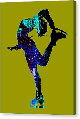 Ice Skating Collection Canvas Print by Marvin Blaine