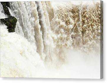 Canvas Print featuring the photograph Iguazu Falls by Silvia Bruno