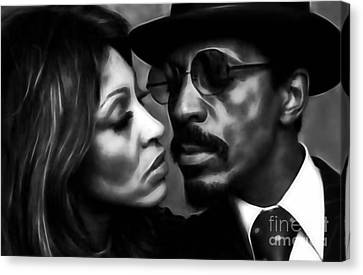 Ike And Tina Turner Collection Canvas Print by Marvin Blaine