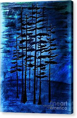 Into The Forest Canvas Print by Scott D Van Osdol