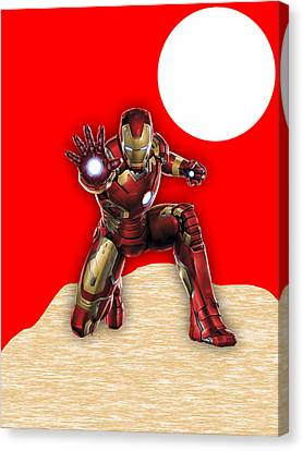 Iron Man Canvas Print - Iron Man Collection by Marvin Blaine
