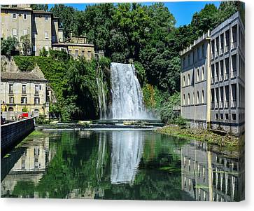 Canvas Print featuring the photograph Isola Del Liri Falls by Dany Lison