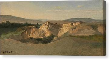 Italian Landscape Canvas Print - Italian Landscape by Jean-Baptiste-Camille Corot
