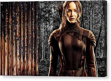 Jennifer Lawrence Collection Canvas Print by Marvin Blaine
