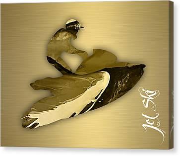 Beach Canvas Print - Jet Ski Collection by Marvin Blaine