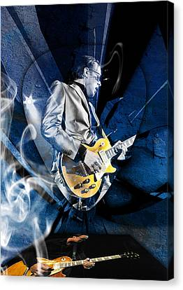 Joe Bonamassa Blues Guitarist Art Canvas Print by Marvin Blaine