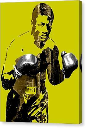 Retro Canvas Print - Joe Frazier Collection by Marvin Blaine