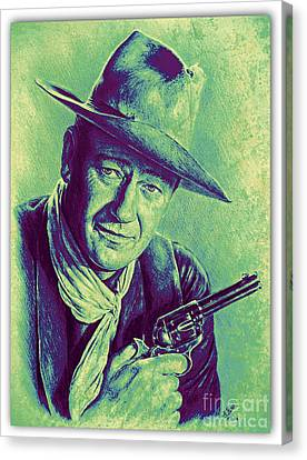 John Wayne Canvas Print by Andrew Read