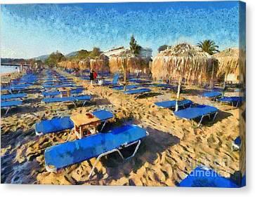 Kavouri Beach Canvas Print by George Atsametakis