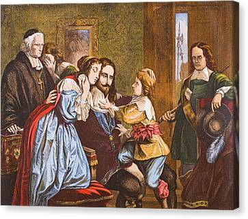 King Charles I Of England 1600-1649 Canvas Print by Vintage Design Pics