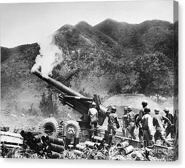 Korean War: Artillery Canvas Print by Granger
