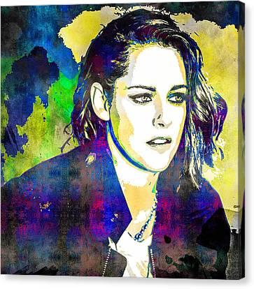 Kristen Stewart Canvas Print by Svelby Art