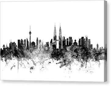 Kuala Lumpur Malaysia Skyline Canvas Print by Michael Tompsett