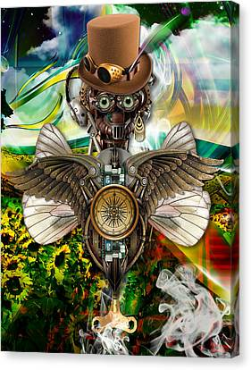 Steam Punk Canvas Print - Latitude by Marvin Blaine