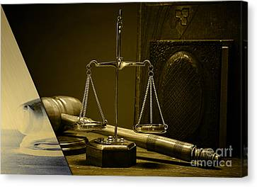 Law Office And Judge Collection Canvas Print by Marvin Blaine