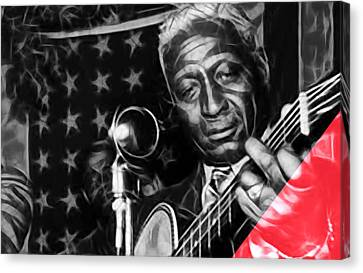 Musicians Canvas Print - Leadbelly Collection by Marvin Blaine