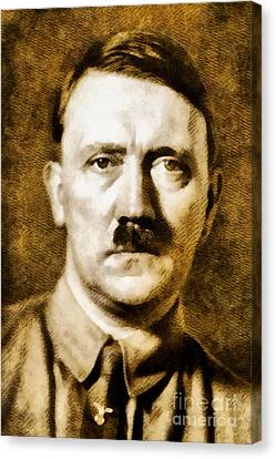 Leaders Of Wwii - Adolf Hitler Canvas Print