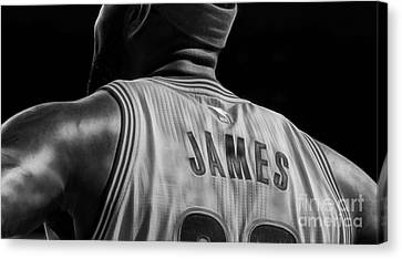 Lebron James Canvas Print - Lebron James Collection by Marvin Blaine