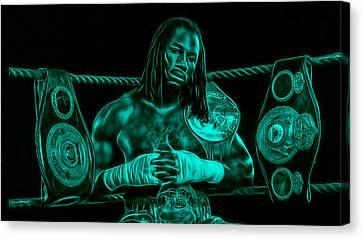 Boxer Canvas Print - Lennox Lewis Collection by Marvin Blaine