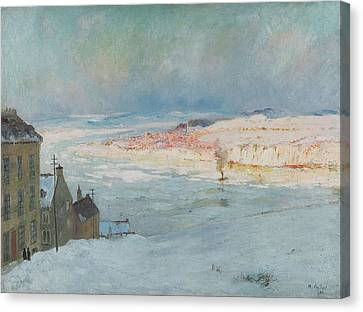 Levis From Quebec Canvas Print by Maurice Cullen