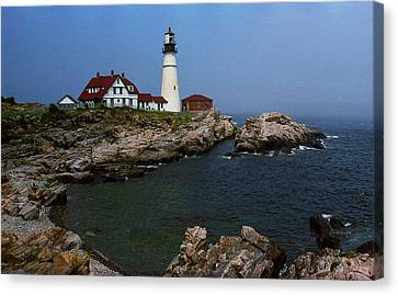 Lighthouse - Portland Head Maine Canvas Print by Frank Romeo