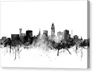 Lincoln Canvas Print - Lincoln Nebraska Skyline by Michael Tompsett