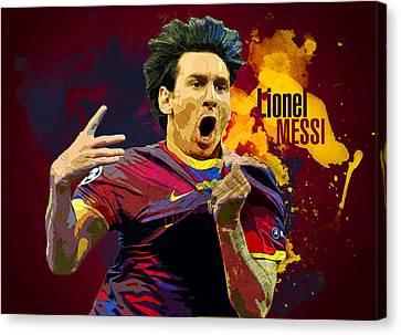Lionel Messi Canvas Print by Semih Yurdabak
