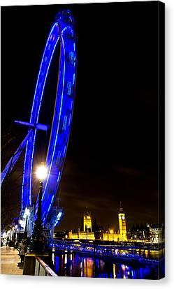 London Eye Night View Canvas Print