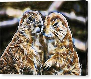 Groundhog Canvas Print - Love by Marvin Blaine