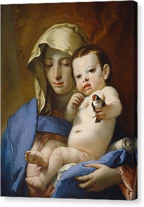 Madonna Of The Goldfinch Canvas Print