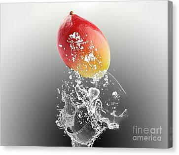 Mango Splash Canvas Print