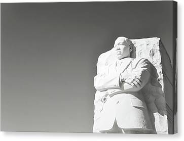 Martin Luther King Statue Monument In Washington Dc Canvas Print by Brandon Bourdages