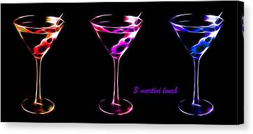 3 Martini Lunch Canvas Print by Wingsdomain Art and Photography