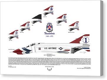 Mcdonnell Douglas F-4e Phantom II Thunderbirds Canvas Print