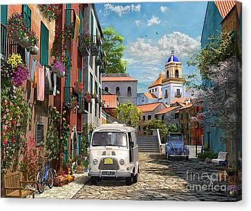Mediterranean Morning Canvas Print by Dominic Davison