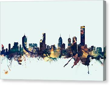 Sydney Canvas Print - Melbourne Skyline by Michael Tompsett