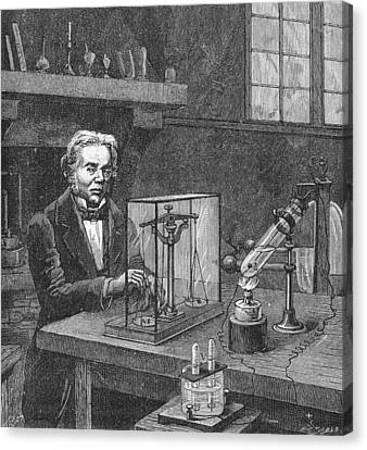 Michael Faraday (1791-1867) Canvas Print by Granger