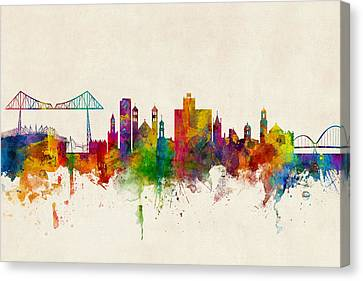 Middlesbrough England Skyline Canvas Print