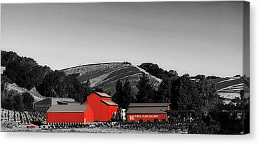 Napa Valley And Vineyards Canvas Print - Midnight Winery - California by Mountain Dreams