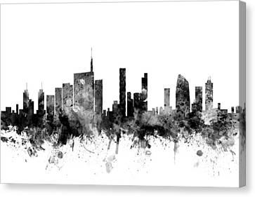 Milan Italy Skyline Canvas Print by Michael Tompsett