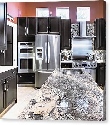 Modern Kitchen Interior Canvas Print by Skip Nall