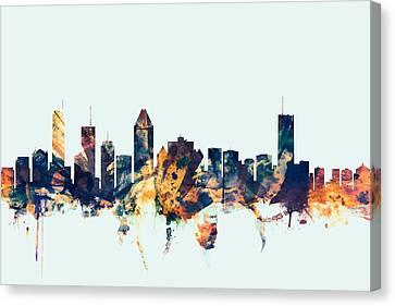 Montreal Canada Skyline Canvas Print by Michael Tompsett