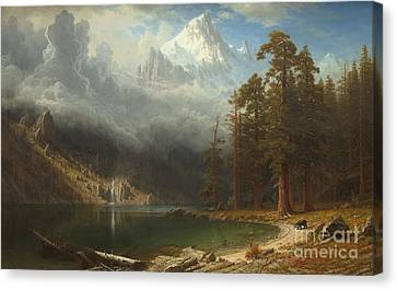 Mount Corcoran Canvas Print by Albert Bierstadt