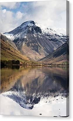 Mountains And Lake, Lake District Canvas Print by John Short