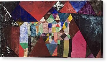 Jewels Canvas Print - Municipal Jewel by Paul Klee