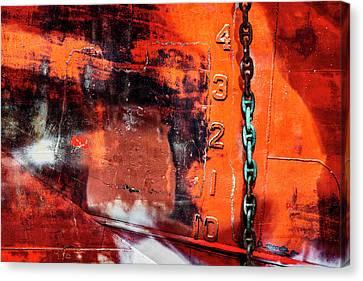Rust Canvas Print - Nautical Industrial Art by Carol Leigh