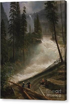 Nevada Falls, Yosemite Canvas Print by Albert Bierstadt