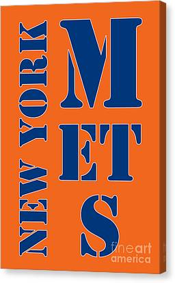 New York Mets Typography Canvas Print