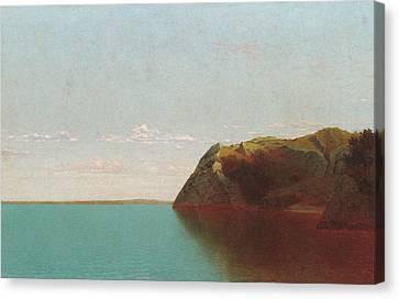 Seaside Heights Canvas Print - Newport Rocks by John Frederick Kensett